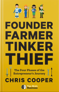 "The cover of the book ""Founder, Farmer, Tinker, Thief"" by Chris Cooper."